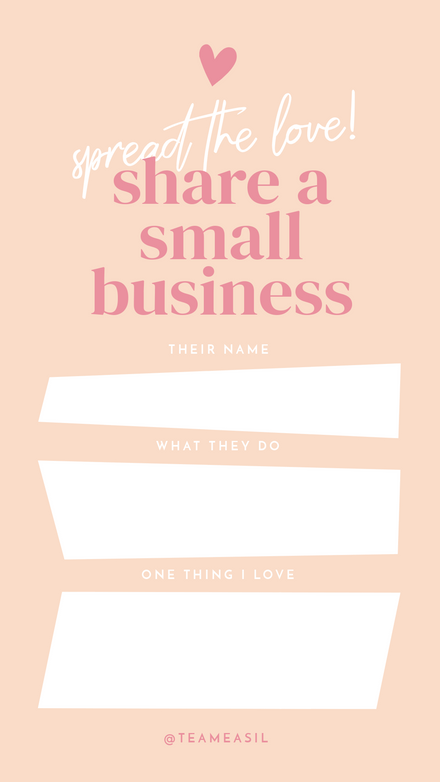 Share a Small Business Challenge: Peach & Pink