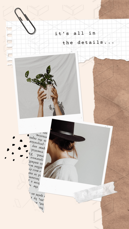 Double Polaroid Scrapbook Style Montage Template