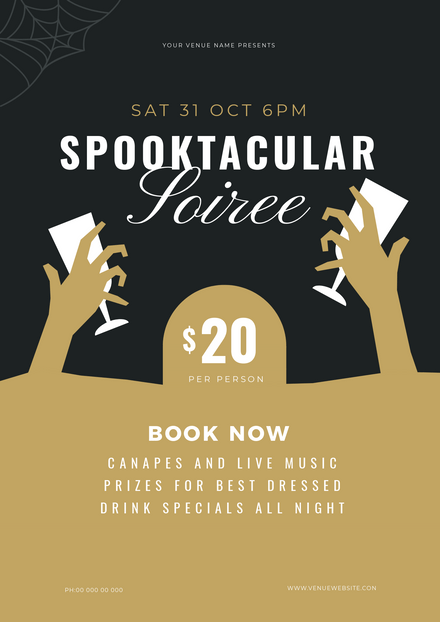 Spooktacular Soiree Halloween Party Promotion Template