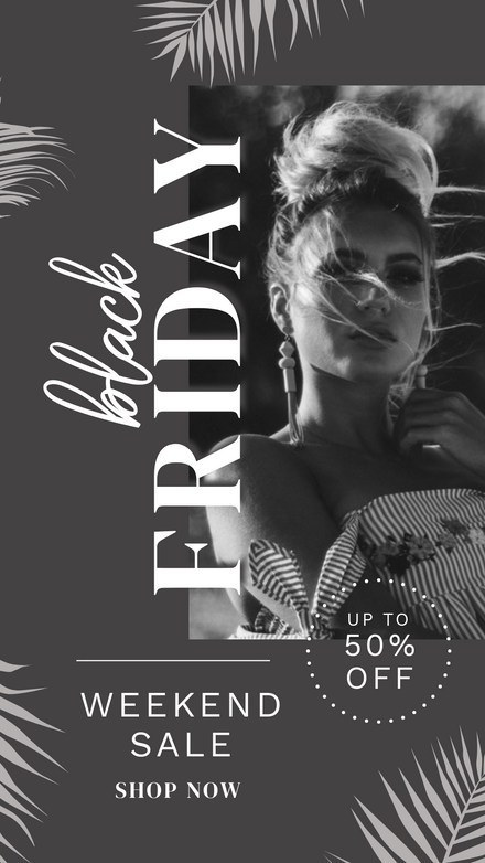 Black Friday Tropical Dark Theme Template