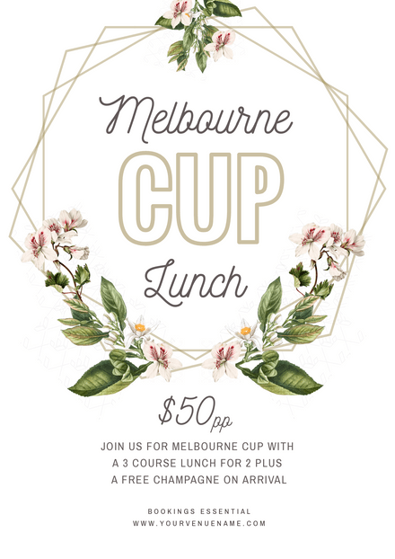 Melbourne Cup Lunch - Geometric & Florals Template