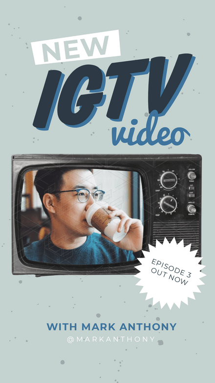 New IGTV Announcement with Vintage TV Frame