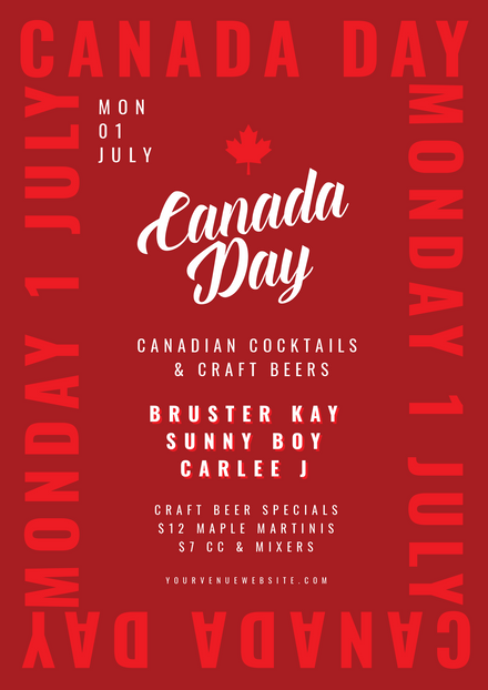 Canada Day Template with text Frame