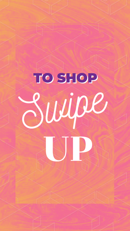Swipe up to Shop - Pink & Orange Template