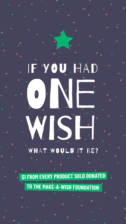 One Wish Polka Dot Template