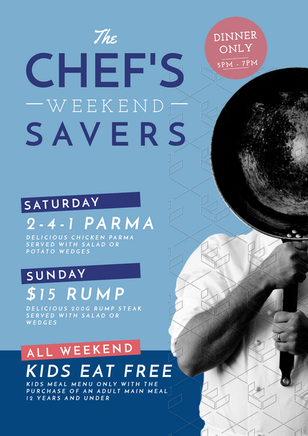 The Chef's Weekend Savers Food Promotion Template