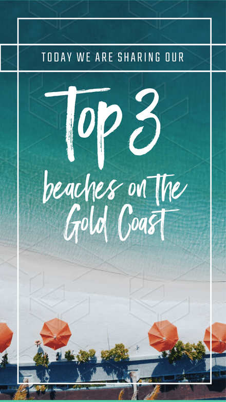 Top 3 Beaches Instagram Stories Graphic Template