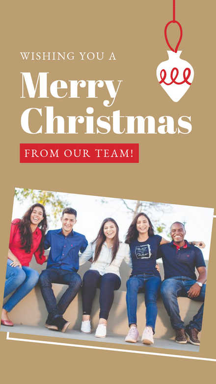 Business Holiday Greeting Template with Image Frame