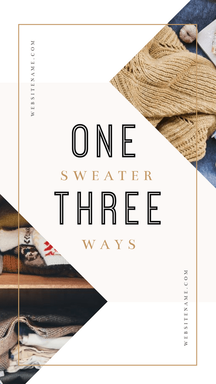 Fashion Story - 3 Ways Graphic Template