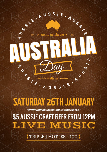 australia day live music promotional template