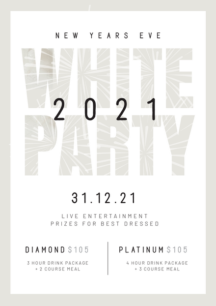 New Years Eve White Party Promotion Template