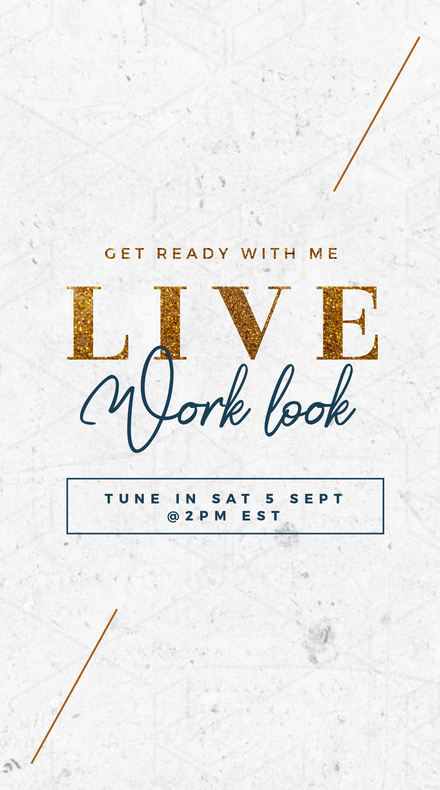 Live WorkBook Glittery Gold Template