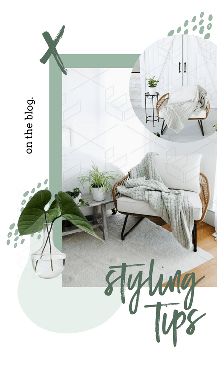 Collage Style Layered Green Template