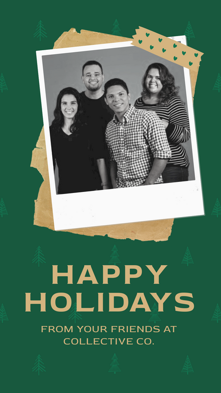 Happy Holidays - Team Polaroid Template