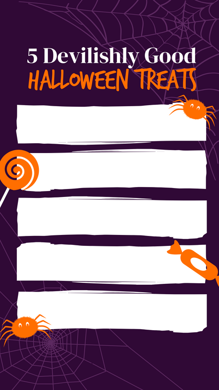 5 Devilishy Good Halloween Treats Fill in the Blanks Template