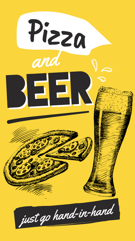International Beer & Pizza Day Template