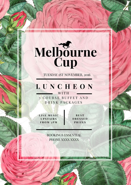 customisable melbourne cup poster templates