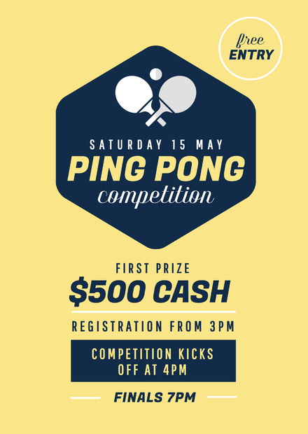 Ping Pong Competition