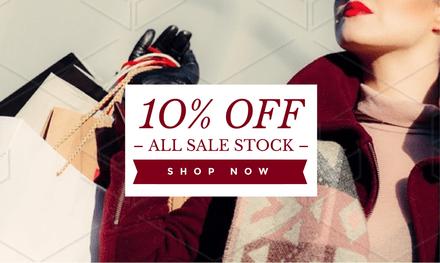 10% Off Sale