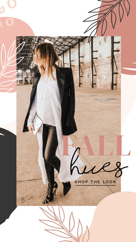 Fall Hues - Shop the Look Template
