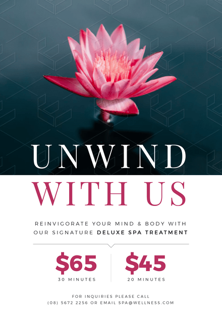 Unwind with Us Day Spa Template