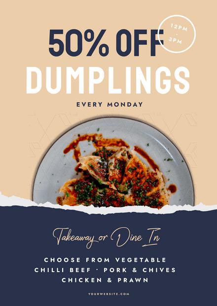 Dumpling 50% Off Special