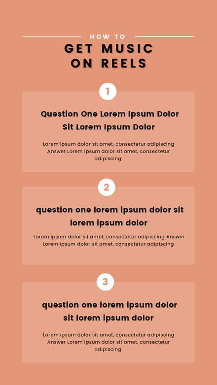 3 Step Tutorial Graphic Template