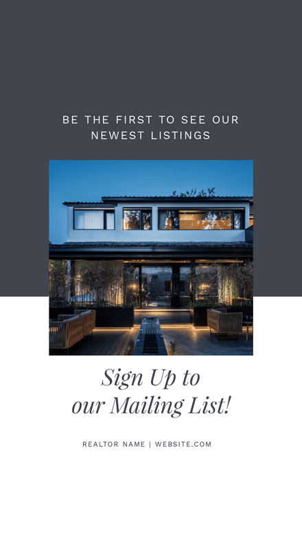 Realtor Prompt Graphic - Sign up to our Mailing List