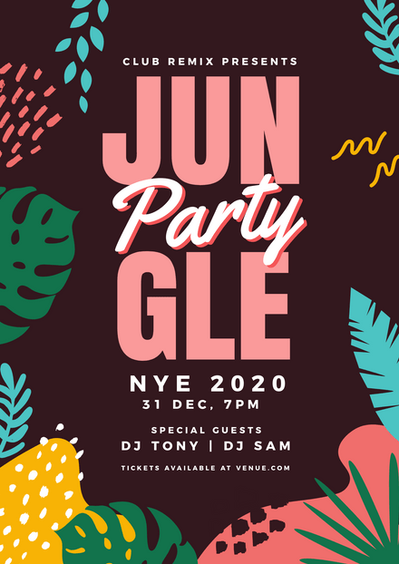 Jungle NYE Party Template