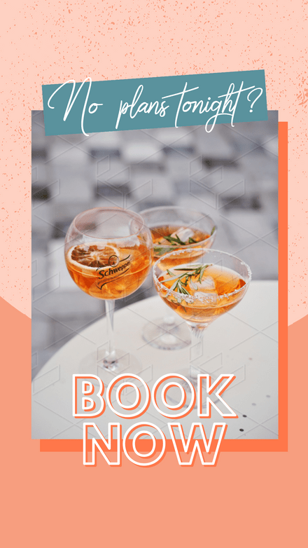Drink Tonight - Book Now Graphic Template
