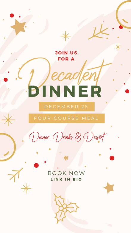 Christmas Dinner Template - Modern Brushstrokes