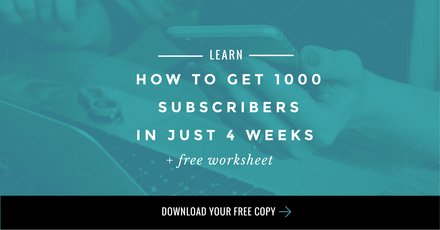 Get 1000 Subscribers in just 4 Weeks