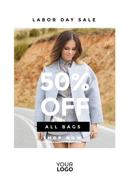 Bag Sale Template with thick white Border