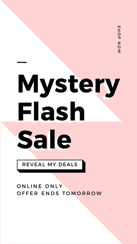 Mystery Flash Sale Template