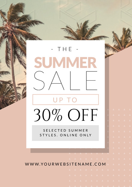 Summer Sale with palm tree background