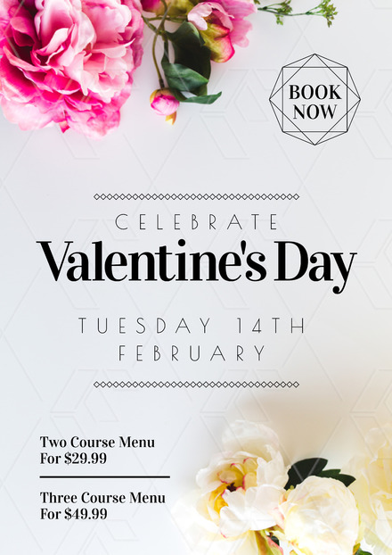Valentine S Day 2018 Template With Pink Roses