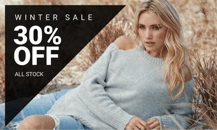 30% Off Winter Stock