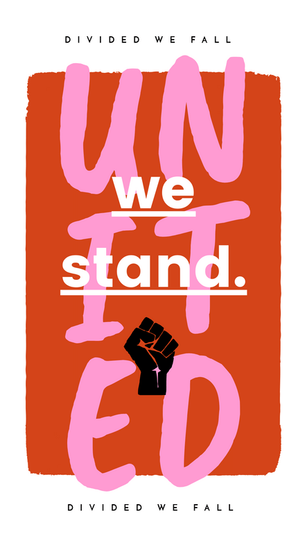 Quote: United We Stand Pink and Red