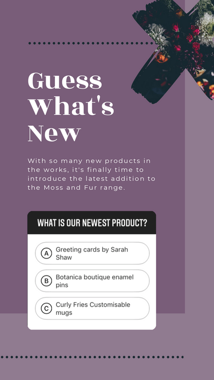 Product Reveal - Quiz Sticker Instagram Story Template