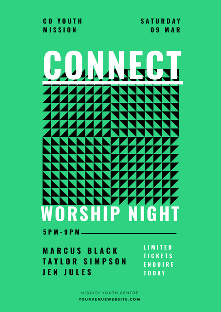 Connect Worship Night Community Event Template
