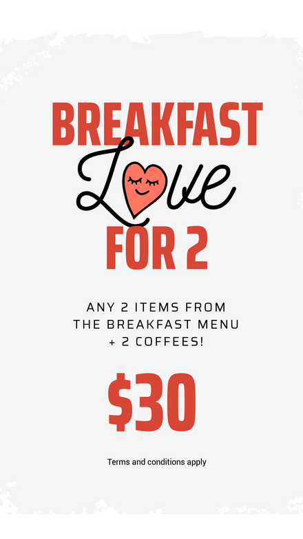 Breakfast Love for 2 Promotion Template