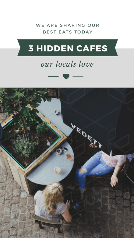 3 Hidden Cafes Our Locals Love - Instagram Stories Template