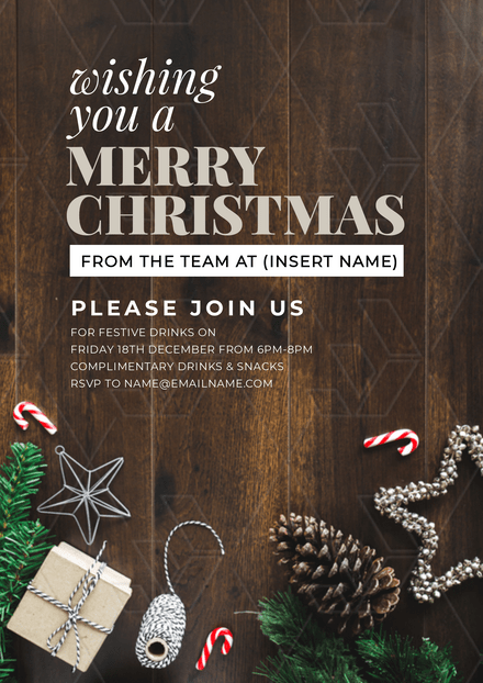 Wishing you a Merry Christmas Graphic Template