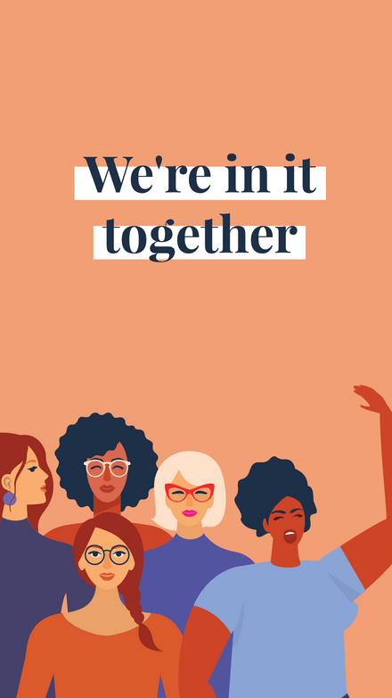 We're In it Together - Illustrated Ladies Graphic Template
