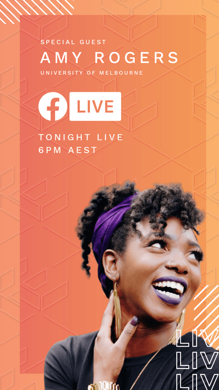 Orange Tones Facebook Live Template