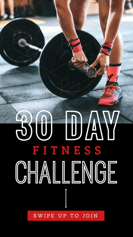 30 Day Fitness Challenge Graphic Template
