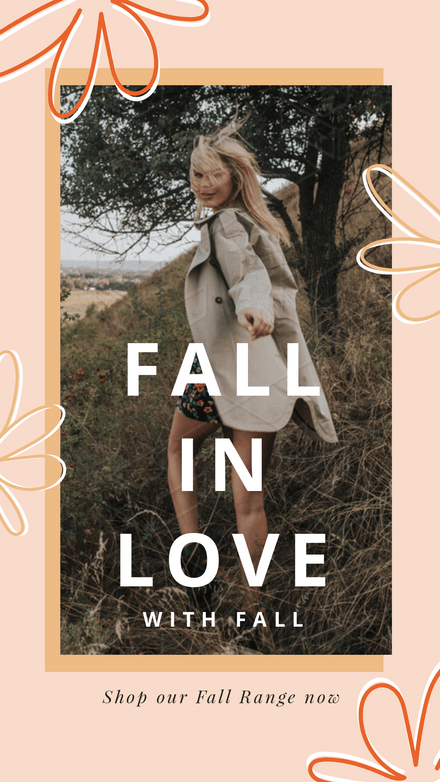 Fall in Love with Fall Retail Graphic Template