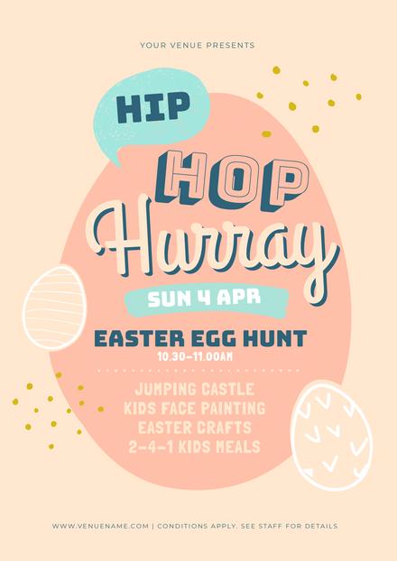Hip Hop Hurray Easter Egg Hunt Promotion Template