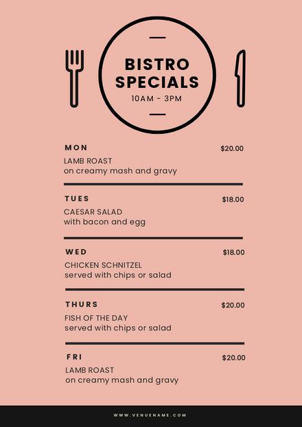 customizable restaurant menu templates - easil