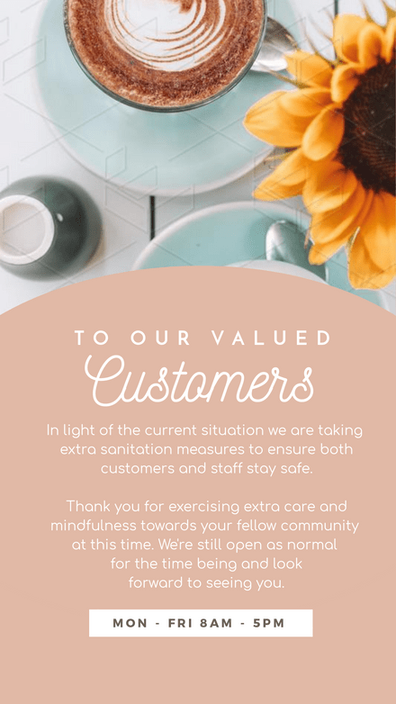 Valued Customer Update Notice Circle